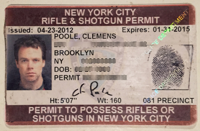 New york city gun permit clemenspoole upon presenting the letter they took my photo in which i did my best to look dangerous and issued my license they never asked for any kind of altavistaventures Image collections